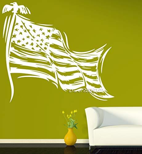 Patriotische Dekor Wandaufkleber Sterne gestreiftes Symbol der Staatsflagge der USA Wandtattoos perfekte Qualität Tapete Poster