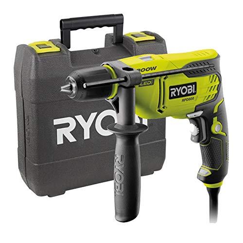 Ryobi 5133002018 Taladro de percusión cable eléctrico 800 W portabrocas sin llave