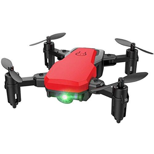 happy event SG800 Mini Faltbare 2,4 Ghz RC Quadcopter Pocket Hubschrauber Drone Höhe Halten Für Kinder und Erwachsene (Rot)