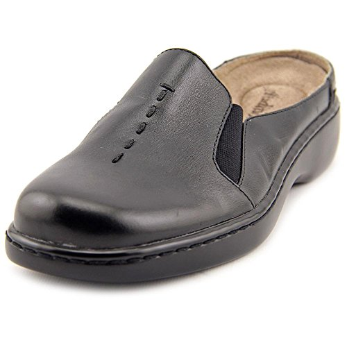 Auditions Harmony étroit Cuir Mules Black
