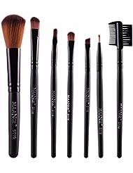 La Cabina Kit de Pinceaux de Maquillage à 7 Pièces, Pinceaux de Maquillage Professionnels, Noir