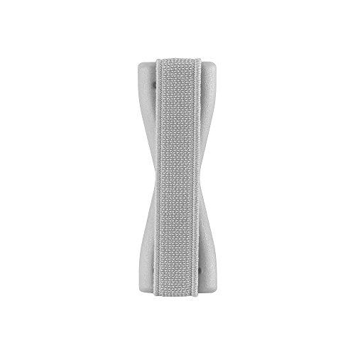 Cadorabo – Finger-Halterung Sling Grip passend für Smartphone / Tablet / iPod / eReader Griff Henkel Sling Schlaufe Riemen in SILBER
