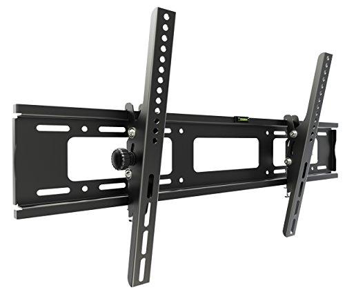 RICOO TV Wandhalterung R07 Universal für 37-80 Zoll (ca. 94-203cm) Neigbar Super Flach Wand Halter Aufhängung Fernseh Halterung auch für Curved LCD und LED Fernseher | VESA 300x200 700x400 | Schwarz (80 Smart Zoll Tv Sharp)