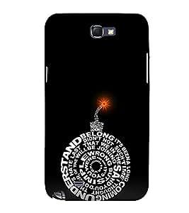 EPICCASE dynamite black Mobile Back Case Cover For Samsung Galaxy Note 2 (Designer Case)
