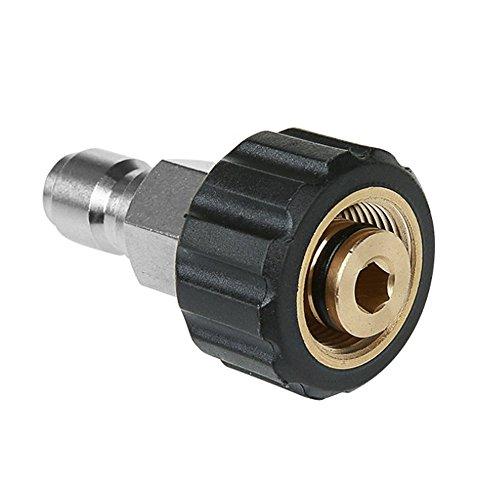 """Nuzamas Hochdruckreiniger-Verbindungsstück M22 Gewinde auf 3/8\"""", Innenstift, 14 mm, Schnellverbinder, Messing, Innengewinde, Schlauch-Verbindungsteile"""