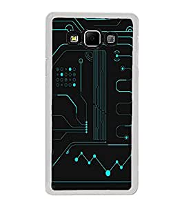 PrintVisa Electronic Circuit Pattern High Glossy Metal Designer Back Case Cover for Samsung Galaxy A8 :: Samsung Galaxy A8 Duos :: Samsung Galaxy A8 A800F A800Y