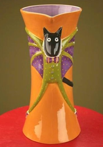 Patience Brewster Bat Cat Pitcher - Krinkles Halloween DïÃ'Â¿Ã'½??cor New 08-30607 by Patience Brewster by Patience Brewster