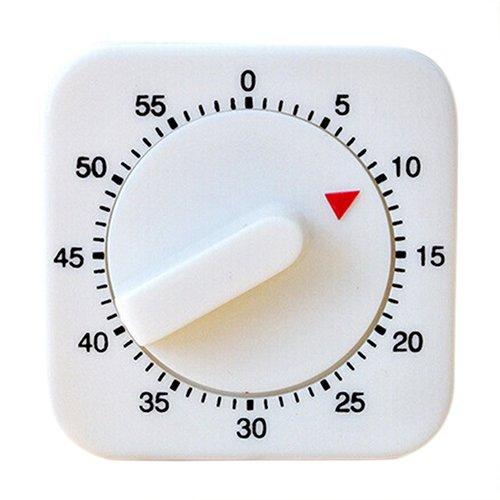 NAttnJf Novità White Square 60 minuti di timer meccanico conteggio promemoria per cucina