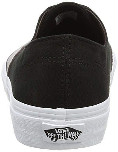 Vans Ua Authentic Decon, Sneakers Basses Femme Noir (Metallic Canvas Black)
