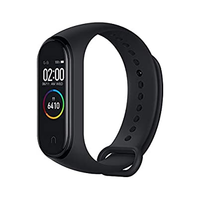 Xiaomi Mi Band 4 Fitness Tracker, 0.95 Inches, Colour, AMOLED Display, Heart Rate Monitor, 50 Metres, Activity Tracker, Waterproof Smart Bracelet, 2019 Model, Black, 21.6 mm from Xiaomi