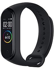 eiAmz Xiaomi Mi Band 4 Activity Tracker,Monitor attività,Monitor frequenza cardiaca Monitoraggio Fitness, Bracciale Smartwatch con Schermo AMOLED a Colori 0,95, con iOS e Android (Versione Globale)