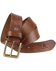 HIDE & SKIN # Rosso # Men's # 100% Genuine Leather # Brandy Brown # Hand Milled Belt