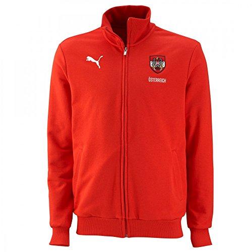 Puma Blank Österreich (Austria) Sweater Jacke, Größe:L