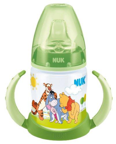 #NUK 10215150 First Choice Trinklern-Flasche Disney Winnie aus PP 150ml, mit Soft-Trinktülle aus Silikon ab 6 Monate, auslaufsicher, BPA frei, grün#