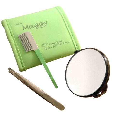 Mini 20x Magnifying Mirror with tweezers and Comb – Little for sale  Delivered anywhere in UK
