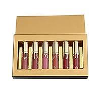 Transer 6 Pieces/Set Women Lipsticks Liquid Matt Lip Gloss Permanently Lip Liner Make up Balms