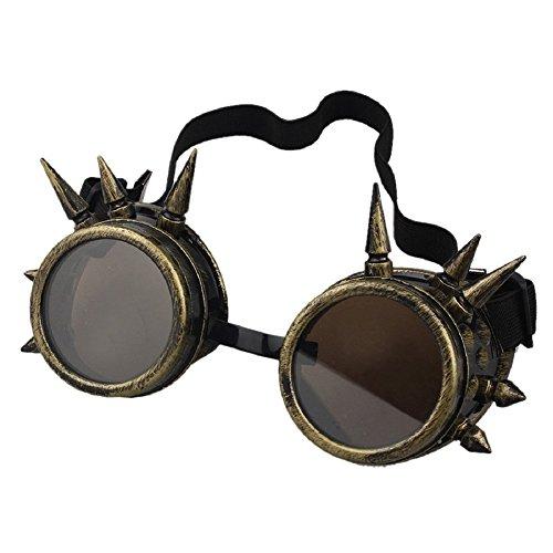 niceEshop(TM) Vintage Stil Niete Steampunk Brille