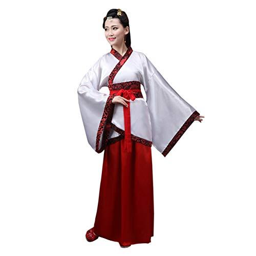 Goyajun Damen Tang Anzug Uralt Chinesischer Stil Hanfu Drucken Kostüm National Traditionell Cosplay Performance Kostüm