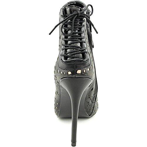 Steve Madden Korsett, bottines femme Black Leather