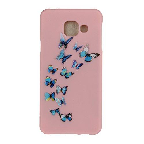 Meet de Rose Etui / Cover / Case / Coque / Protection Coque Étui Case Cover Coque TPU Housse pour Samsung Galaxy A3 (2016) A310 (4,7 Zoll) - Papillon