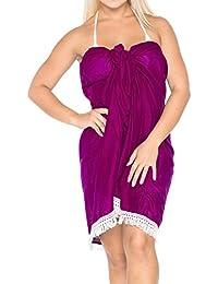 20d6a8030f ... Cover-Ups & Sarongs : Pink. LA LEELA Cotton Womens Wrap Beach Swimwear  Swim Sarong Solid