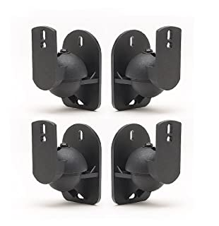 TechSol 4 Pack Black Universal Speaker Wall Brackets (B001FX6DP2) | Amazon price tracker / tracking, Amazon price history charts, Amazon price watches, Amazon price drop alerts