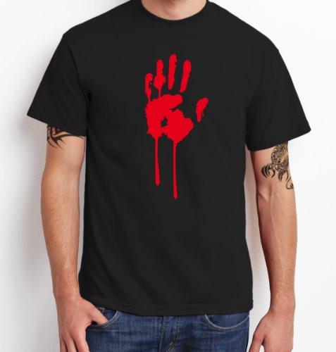 hirt ::: Herren, Schwarz mit rotem Aufdruck, Gr. S Sale X (Geist Halloween Sales)