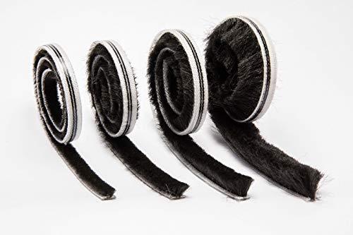 Bürstendichtung Bürstenhöhe 8mm selbstklebend schwarz 6,7 x 8mm Dichtungsbürste Türbürste Türbodendichtung (5 m)