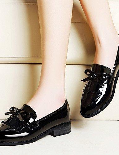 ShangYi gyht Scarpe Donna - Scarpe col tacco - Ufficio e lavoro / Formale / Casual / Serata e festa - Tacchi / Comoda - Quadrato - Vernice -Nero / Red