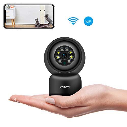 Veroyi Home Security-Kamera, 1080p HD WiFi-Überwachungs-IP-Kamera mit Nachtsicht in Farbe, 2-Wege-Audio, Bewegungserkennung und Cloud-Speicherung