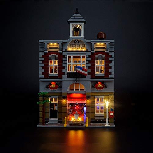 LIGHTAILING Conjunto de Luces (Creator Fire Brigade) Modelo de Construcción de Bloques - Kit de luz LED Compatible con Lego 10197(NO Incluido en el Modelo)