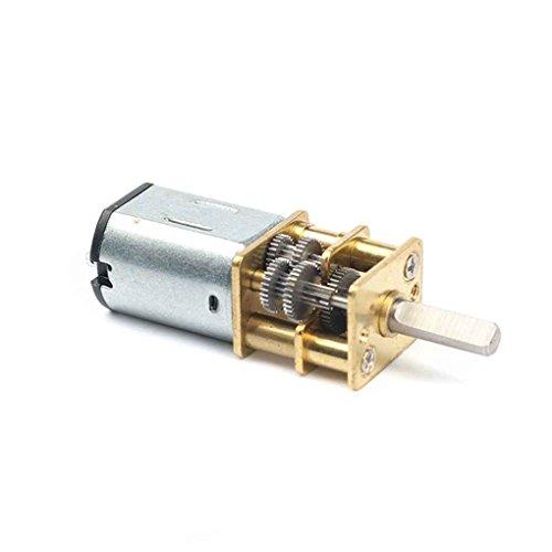 vkospy DC 12V 1: 1000 Übersetzungsverhältnis 20rpm / 30rpm / 40RPM Getriebemotor großer Drehmomentgetriebemotor Metall DIY N20 Elektro-Getriebemotor