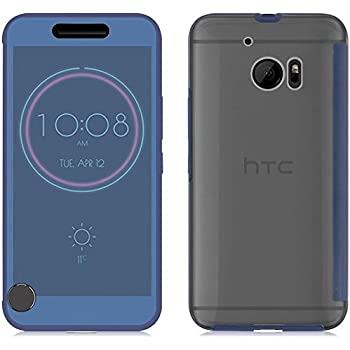 best service 97558 b00d7 Genuine HTC Ice View Case Cover for HTC 10 - Black: Amazon.co.uk ...