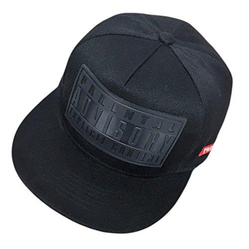 Imagen de missfox sombrero plano de béisbol accesorios para parejas hip hop snapback negro
