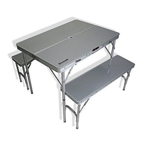 LVZAIXI Camping portatif Pliant en Aluminium/Pique-Nique Table et Tabouret extérieur Ensemble de Chaise