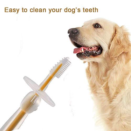 [AIDIYA] Hund Zahnbürste für Pet Dental Care – Triple Zahnbürste – empfohlen von Tierärzte Leitung und PET hundefriseuren – Perfekt für mittlere Große Hunde – ergonomischer Griff Design für einfache Oral Care Pflege - 2