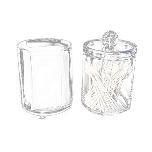 Windy5 Zwei-Schicht Acryl tragbare Runde Wattepad Aufbewahrungsbox Tupfer Container Makeup löschen Organizer Transparent kosmetischer Fall