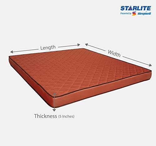 Sleepwell Starlite Glamour Extra Firm Bonded Foam Mattress (72x48x5) Image 6
