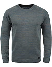 Blend Samu Pull en Maille Pull-Over Tricot Homme Encolure Rond 100% Coton 54302a873e54