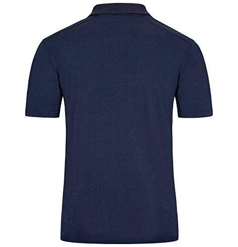 Jan Vanderstorm 100% Baumwolle Herren Poloshirt Jano von Cooles Herren Rugby Shirt, Auch in Übergrößen Erhältlich. Hergestellt in der EU Dunkelblau