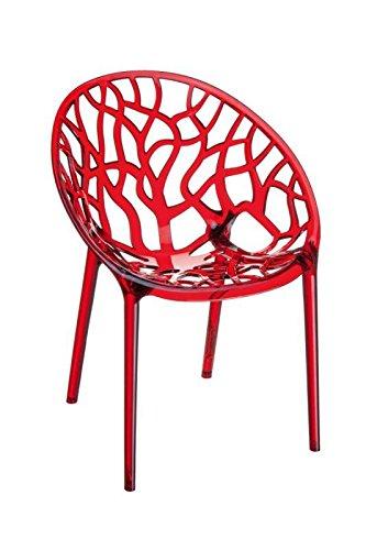 CLP Design Chaise de Jardin, Chaise de bistrot Chaise empilable Crystal, Charge Max. 160 kg, empilable, imperméable, résistant aux UV,