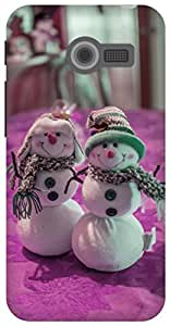 The Racoon Lean tiny snowman pink hard plastic printed back case for Asus Zenfone 4 A400CG