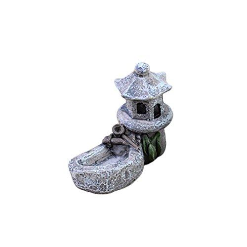 Carry stone Mini Piscine Tour Miniature Paysage Bricolage Ornement décoration de Jardin résine Gris Durable et utile