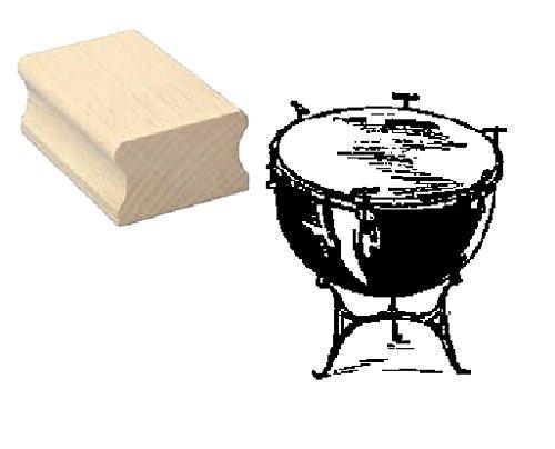 Stempel Holzstempel Motivstempel « PAUKE » Scrapbooking - Embossing Musik Trommel Schlagzeug Komponist Schlagzeuger Drumstick Drum
