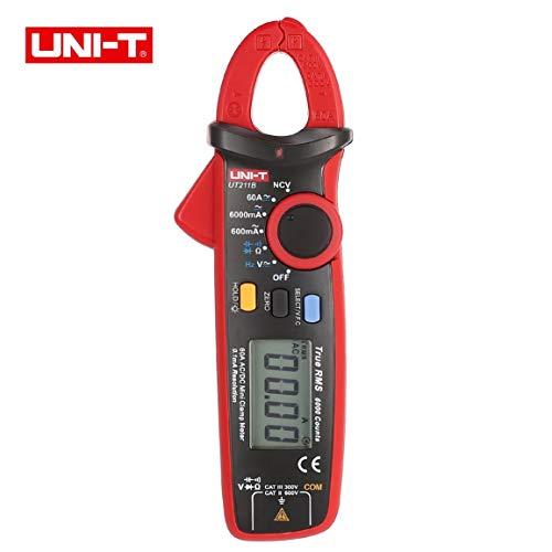 UNI-T UT211B Mini-Digitalmesszange Multimeter True RMS Hohe Auflösung AC/DC Volt Amp Ohm Kapazität Diodentester True-rms-mini Clamp Meter