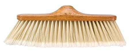 Elliott Balai d'intérieur avec poils souples Effet bois Marron/beige