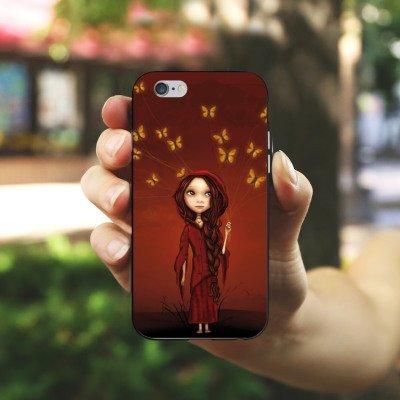Apple iPhone X Silikon Hülle Case Schutzhülle Schmetterlinge Mädchen Traumwelt Silikon Case schwarz / weiß
