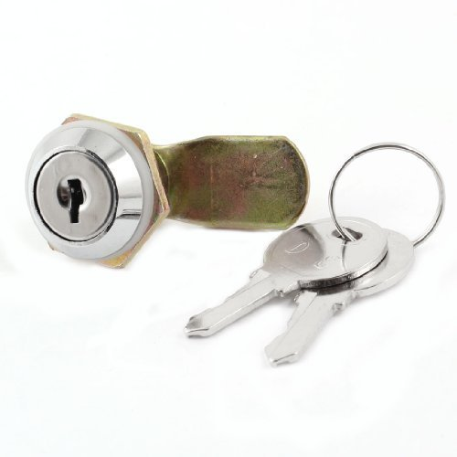 Round förmigen Kopf aus Metall, 16mm Männlich Gewinde Vierteldrehung Cam Lock