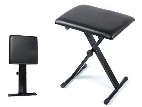 FiNeWaY @ livivo negro taburete Piano ajustable altura