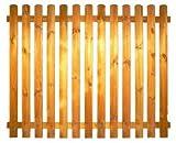 StaketenZaun 'Standard' 180x140/140 cm - gerade – kdi / V2A Edelstahl Schrauben verschraubt - aus frischem Holz gehobelt – gerade Ausführung - kesseldruckimprägniert